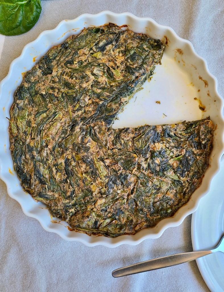 Spinach Frittata Vegan