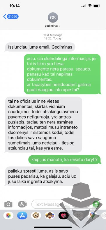 Pokalbis SMSais