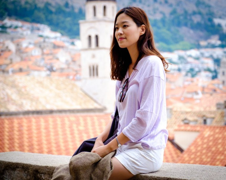 Asian Girl in Dubrovnik, Croatia