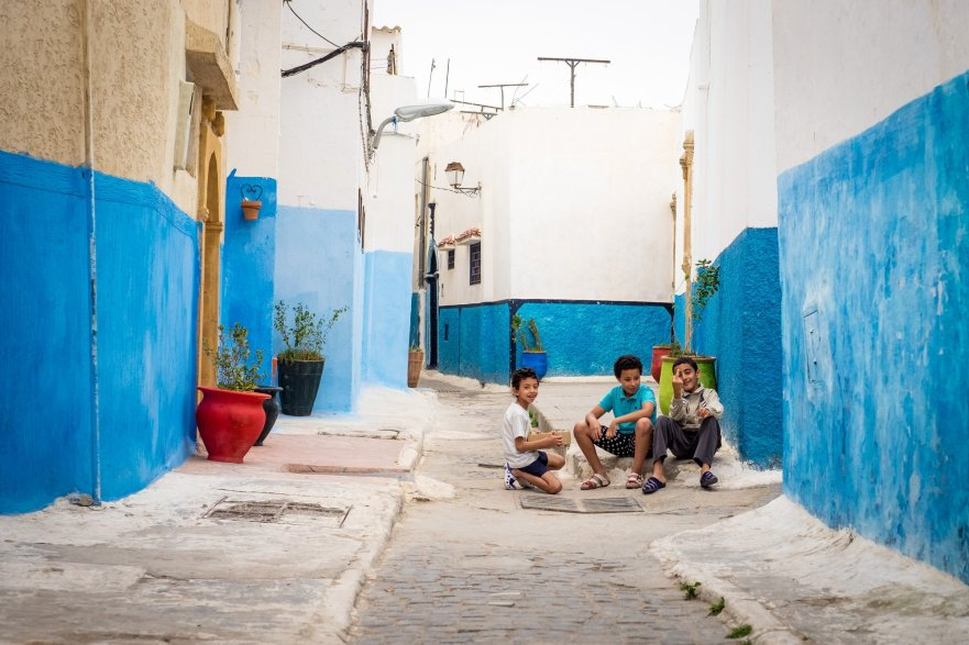 Kids in Rabat, Morocco