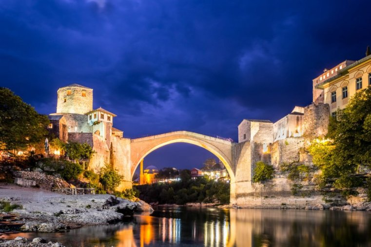 The Stari Most (Old Bridge) in Mostar, Bosnia and Herzegovina