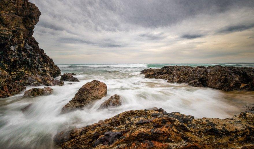 Stormy coast at Phillip Island, Australia