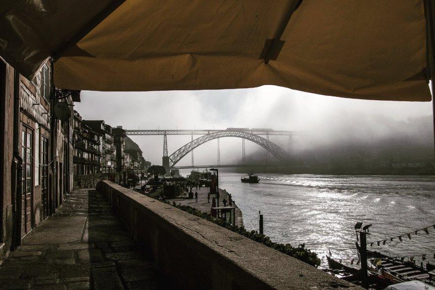 Douro river banks in Ribeira, Porto, Portugal