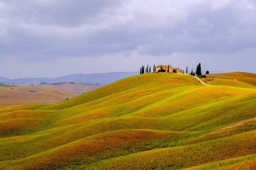 The hills of Tuscany, Italy