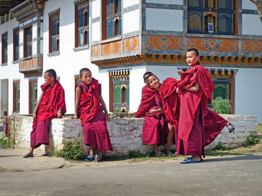 Trainee monks at Punakha school