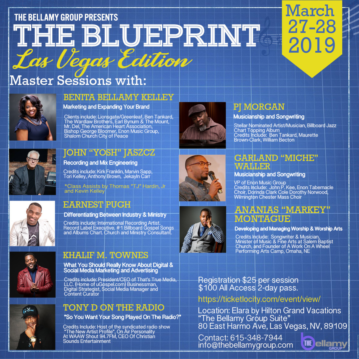 The Blueprint: Music Business Seminar – Las Vegas w/Gospel's Leading Music Execs and Creatives March 27-28