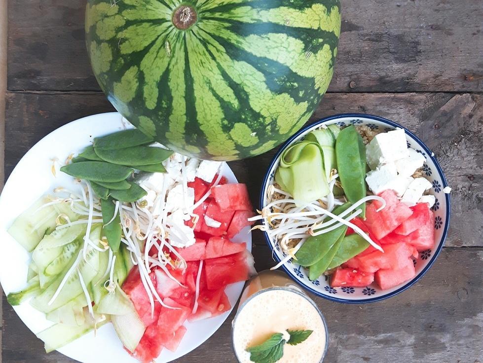 Arbuzowa sałatka z komosy ryżowej