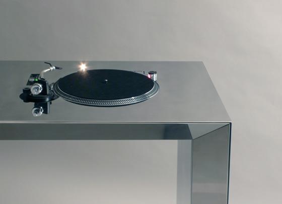DJ Desk: Chrome close-up