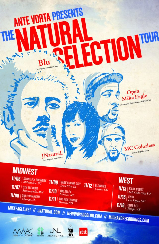 Natural Selection Tour (Blu, Open Mike Eagle, JNatural, and Mc Colorless)