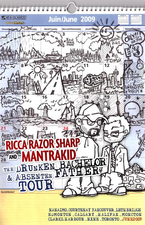 Mantrakid & Ricca Razor Sharp - Summer '09 Tour