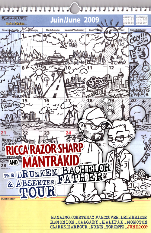 Mantrakid & Ricca Razor Sharp - Summer '09 Tour