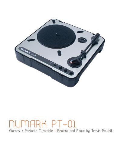 Numark PT-01 Portable Turntable
