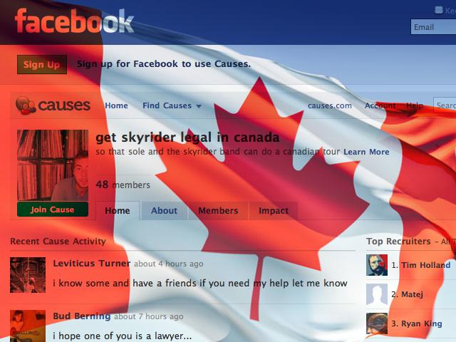 Help Sole get Skyrider into Canada