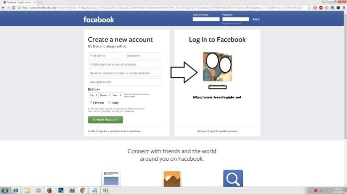 Profile picture login Facebook
