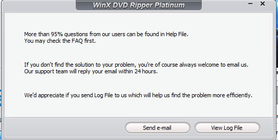 winx DVD ripper platinum review support