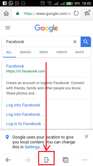 share webpages from linked phone to Windows 10 computer