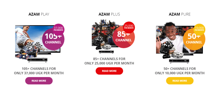 Azam TV packages