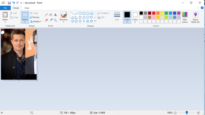 how to combine two images in paint