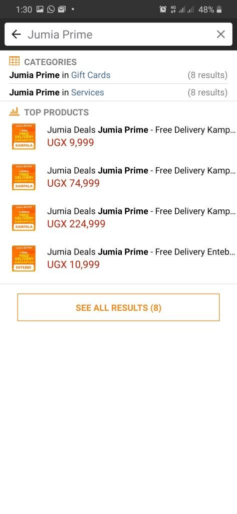 Jumia Prime FREE delivery in Kampala