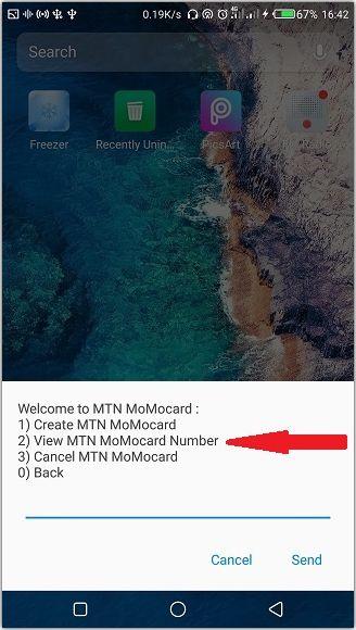 viewing MTN MoMocard