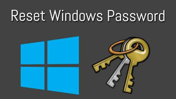 How to change password on Windows