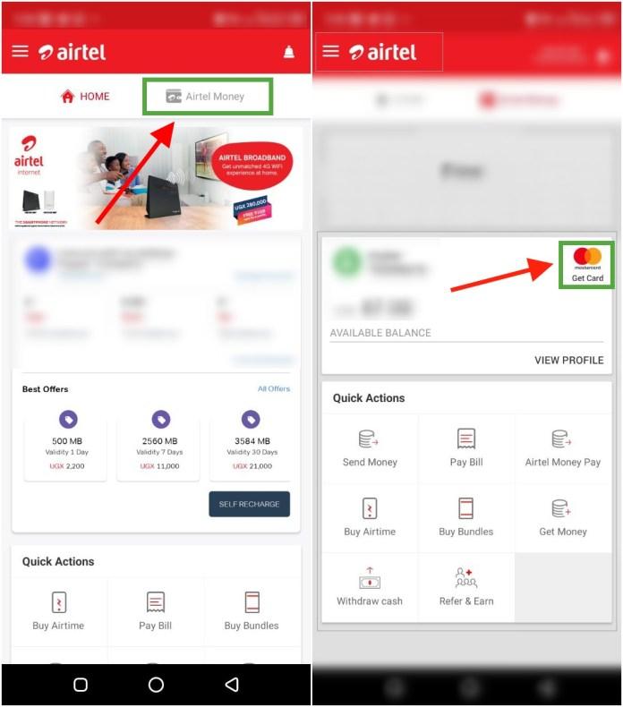 Create Airtel virtual Debit Card Using My Airtel App - ugtechmag/com