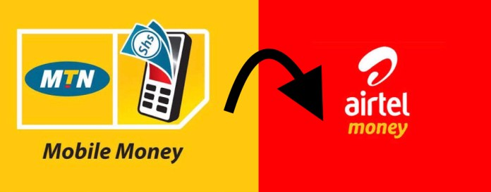 send money from MTN to Airtel