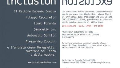 Photo of INCLUSION/EXCLUSION alla Sapienza in occasione della Giornata internazionale delle persone con disabilità