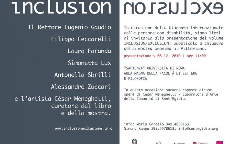 INCLUSION/EXCLUSION alla Sapienza