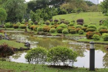 Salah satu taman di dalam area ini