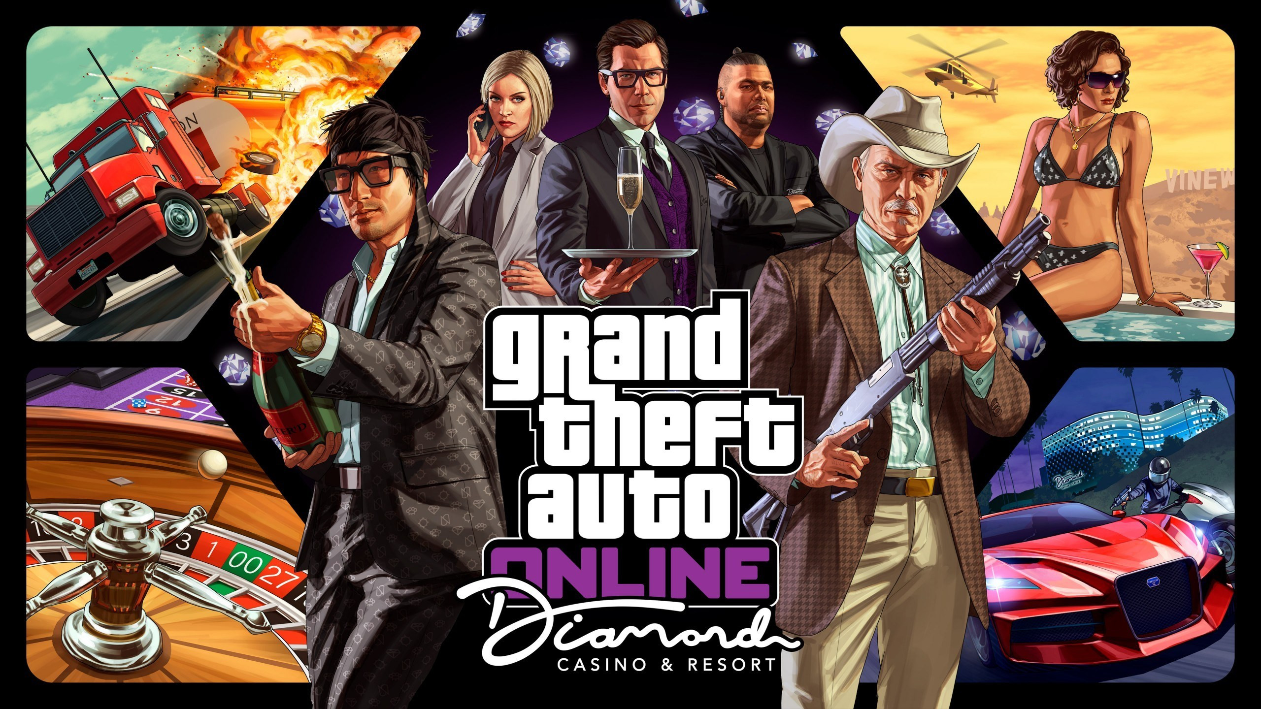 Download Wallpaper Gta Online Diamond Casino Resort 2560x1440