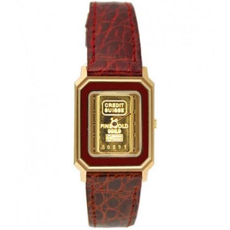 Armbanduhr mit Goldbarren im Zifferblatt