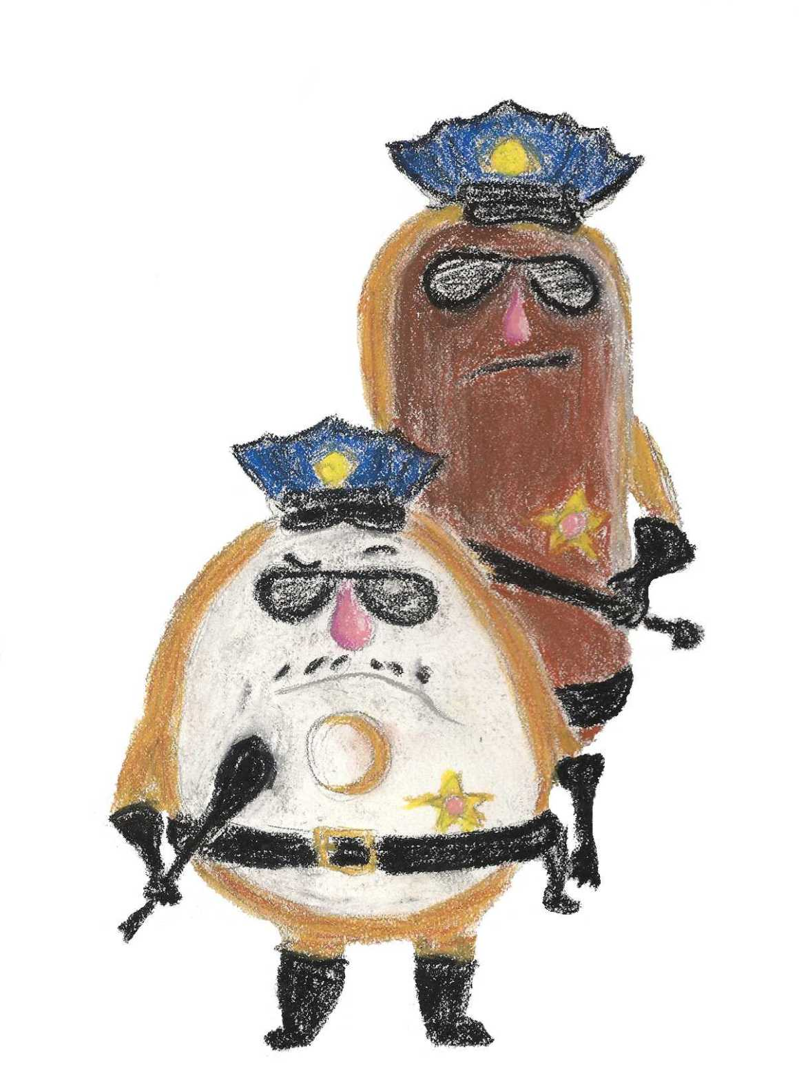 Donut Cops: an illustration