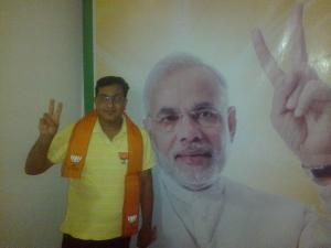 Campaign publicity of Prime Minister candidate Narenda Modi in Varanasi, India MAHIMA VERMA (STAFF)