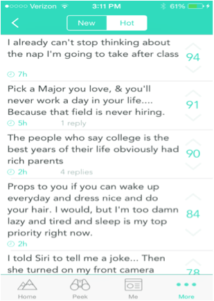 Many users use Yik Yaks to rant and anonymously share their feelings (San Agarwal)