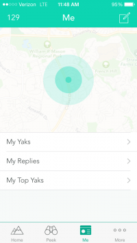 Yik Yak detects users' location to customize their feeds with locally posted Yaks (Johnny Liu)