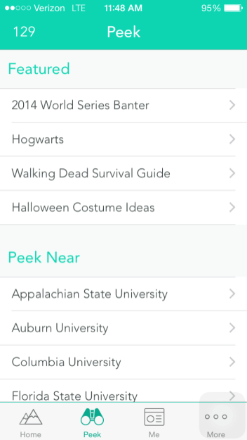 Popular Yaks are featured and users can view Yaks from other universities and colleges (Johnny Liu)