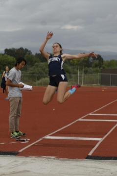 Caroline Werth (Sr.) placed second in the triple jump and third in the long jump, qualifying for CIF in both events. (Zoe Berger)