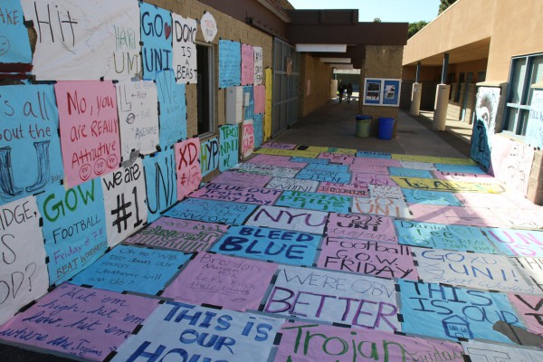 ASB has since redecorated the area with newly made posters to make up for the damaged posters. (Martin Chinn)
