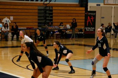 The girls adapt to Tesoro's team by switching formation throughout the game. (M.Olney)