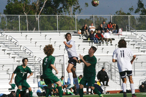 Boys Soccer keeps title hopes alive with win over Irvine