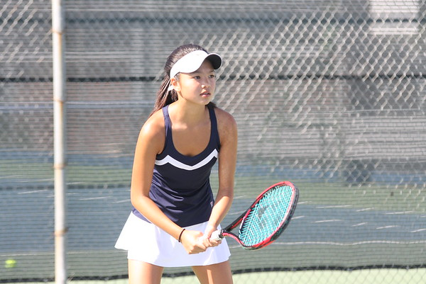 Girls Tennis crushes Fountain Valley High School 14-4
