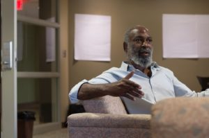 David Robinson speaks about Sweet Unity Farms at Kent State University, Tuesday, Sept. 20. Photo by: Jermaine Jackson.
