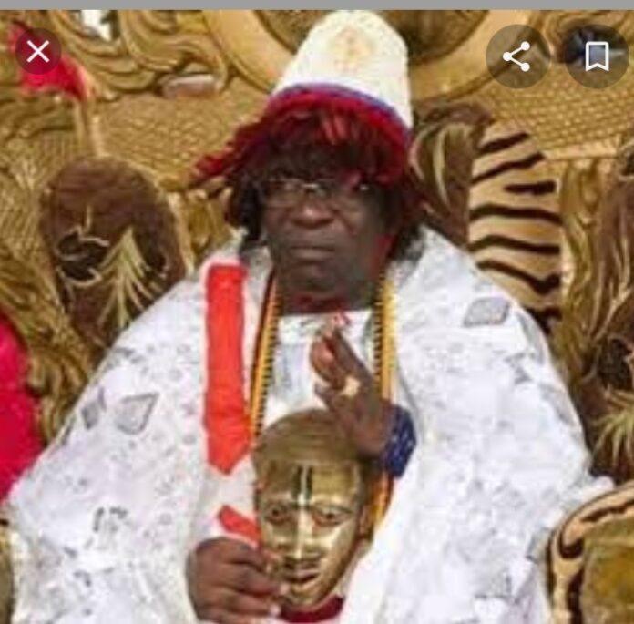 His Royal Majesty Agabaidu IDAKWO OBONI immediate past Attah Igala whose throne is being contested.