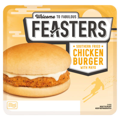 feasters microwave southern fried chicken burger
