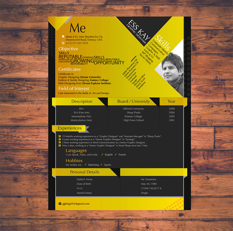 10 Free Simple   Clean Resume CV Templates You Would Love to Download Modern Free Resume Template Design For Graphic Designers