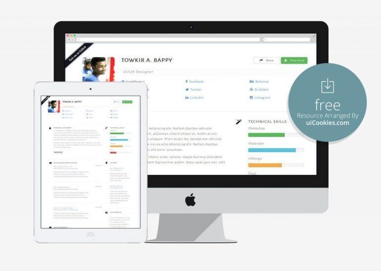 Cvstrap - Bootstrap Responsive HTML Resume
