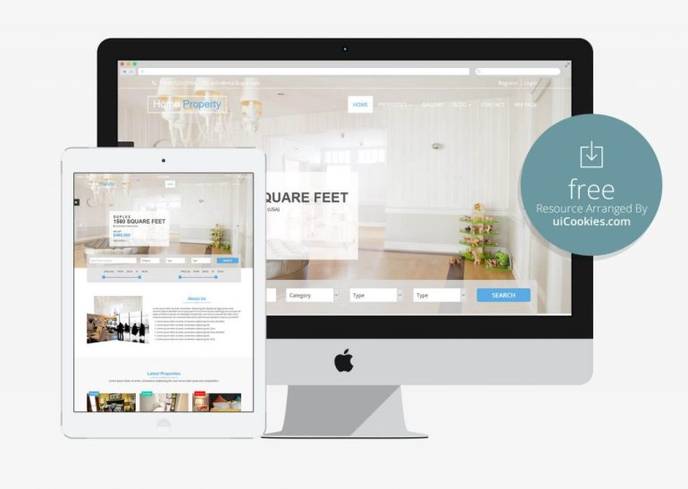 Home Property - Responsive Real Estate Website Theme