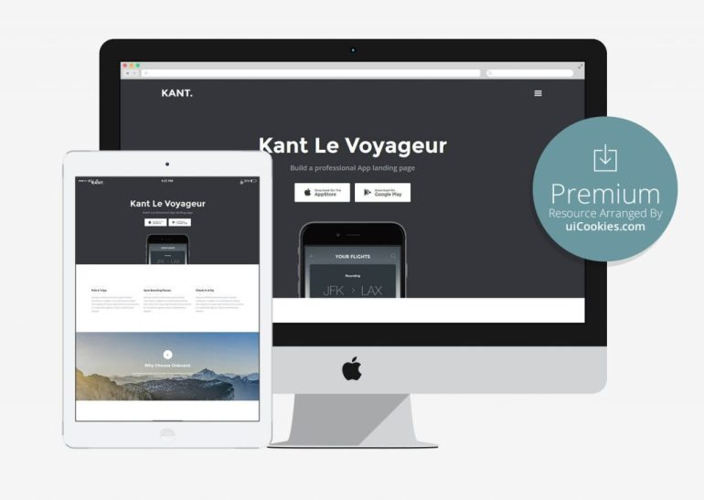 Kant - Bootstrap App Landing HTML Page Template