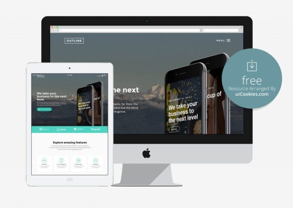 100 best free html5 responsive bootstrap templates outline mobile app free html5 bootstrap template flashek Images